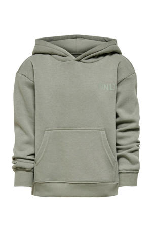 hoodie Every met tekst olijfgroen