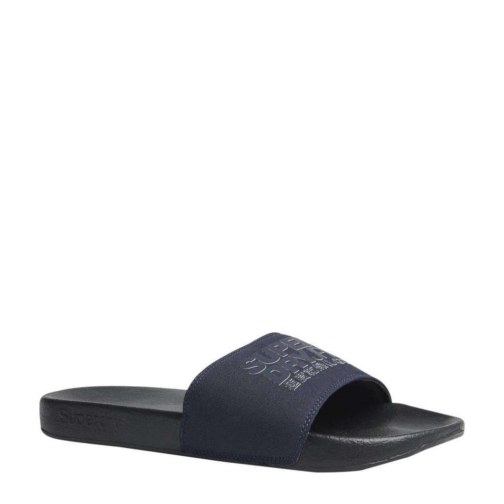 Superdry Sport Sorrento Pool Slide  badslippers zwart/donkerblauw, Zwart/donkerblauw