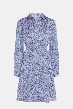 blousejurk Frida  van gerecycled polyester blauw/ roze
