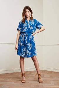 Fabienne Chapot blousejurk Boyfriend dress met all over print en ceintuur blauw, Blauw