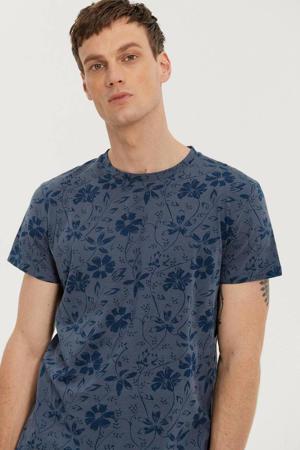 T-shirt met all over print cedric blue