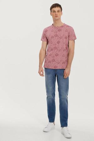 T-shirt met all over print cedric purple