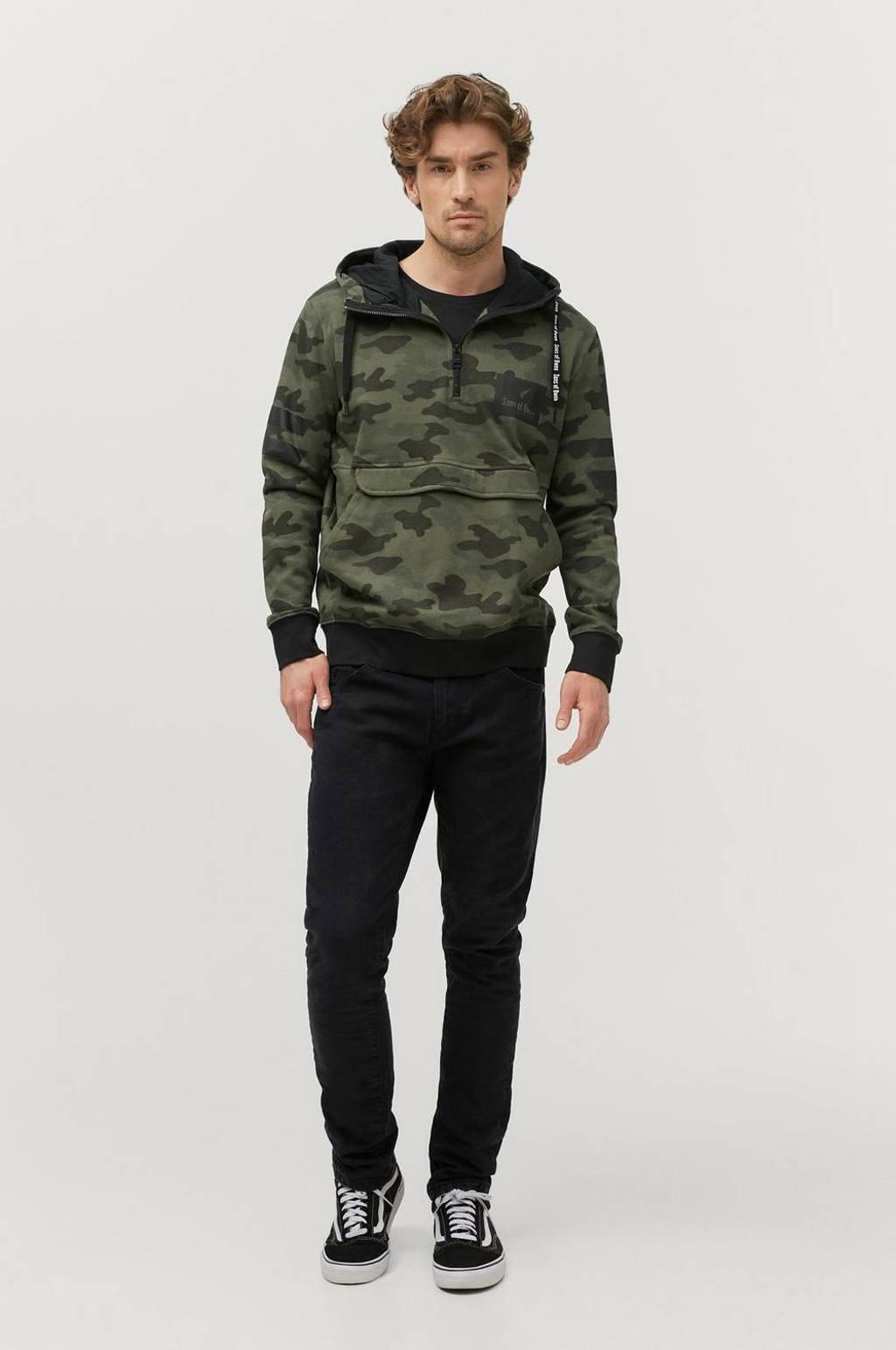 Ellos Sons of Owen hoodie met camouflageprint army, Army