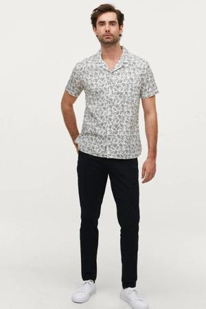 regular fit overhemd met all over print floyd white