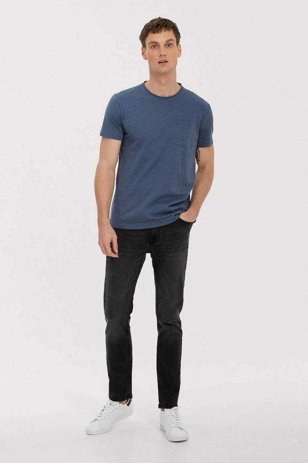 Ellos ON OUR TERMS T-shirt blauw, Oliver Blue