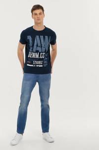 Ellos ON OUR TERMS T-shirt met printopdruk donkerblauw, Donkerblauw
