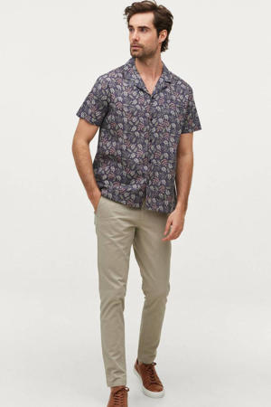 regular fit overhemd met all over print floyd blue