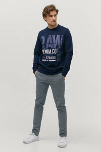 Ellos ON OUR TERMS sweater met printopdruk donkerblauw, Donkerblauw