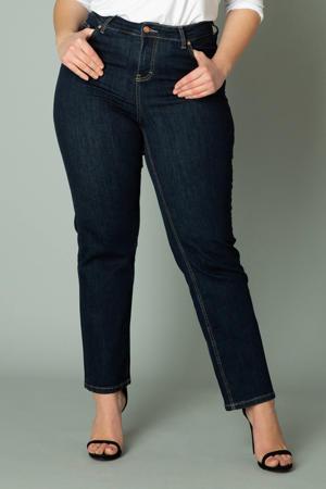 high waist straight fit jeans Ayda dark denim