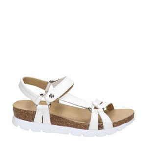 Sally Basics  leren sandalen wit