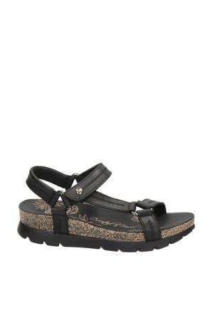 Sandra Basics  leren sandalen zwart