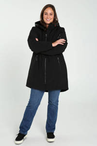 Paprika gewatteerde jas zwart, Zwart