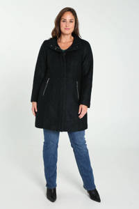 Paprika gemêleerde  coat met wol donkergroen, Donkergroen