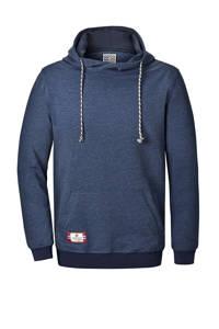 Jan Vanderstorm gemêleerde hoodie BLANKARD Plus Size donkerblauw, Donkerblauw