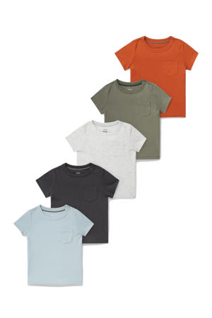 T-shirt - set van 5 multi color
