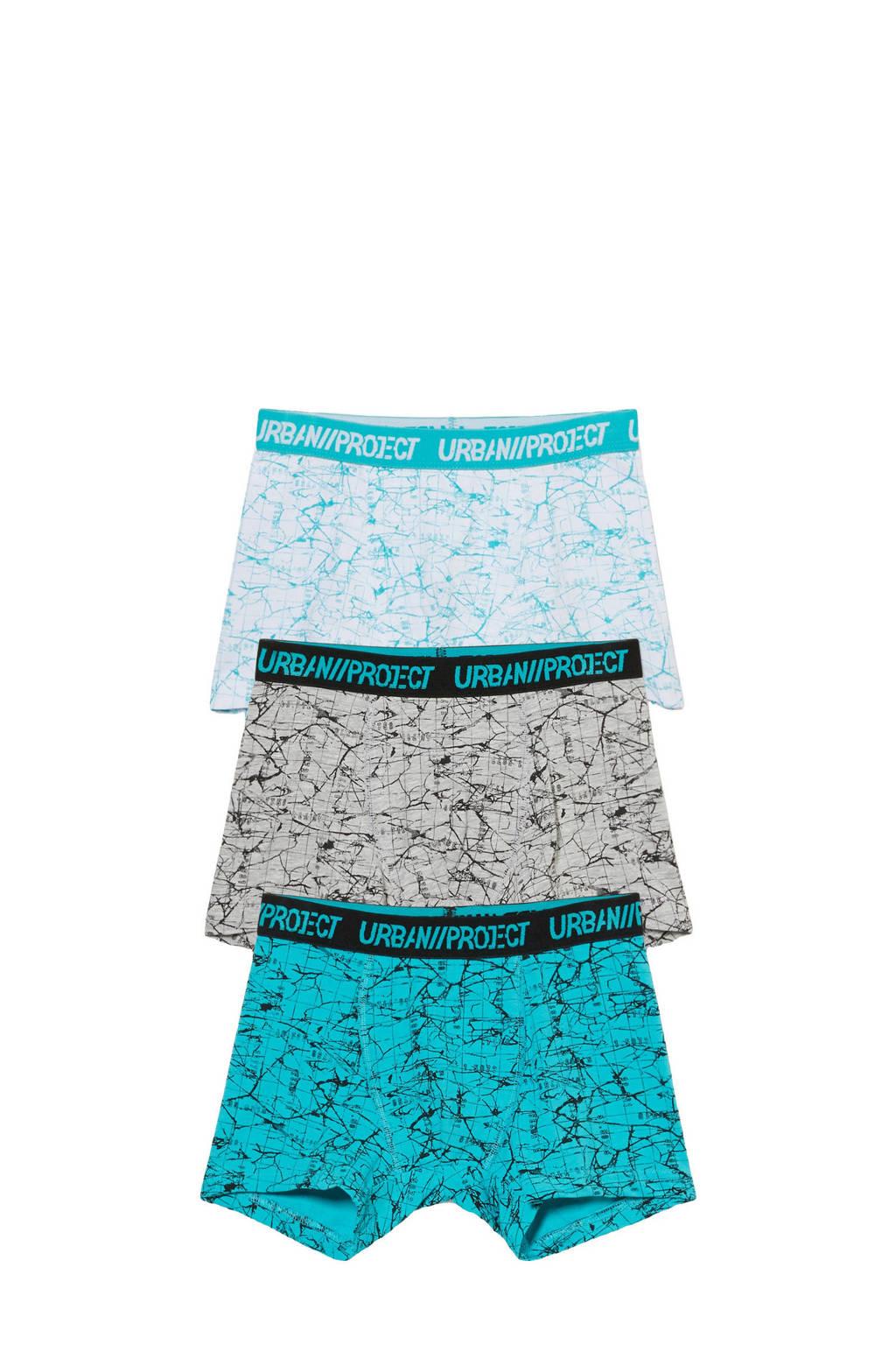 C&A Here & There   boxershort - set van 3 blauw/grijs, Grijs/blauw