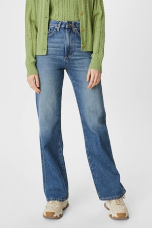 high waist loose fit jeans blauw