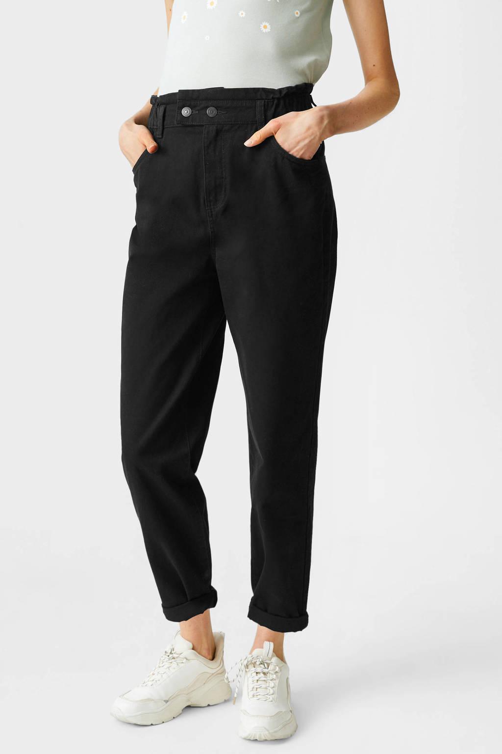 C&A Clockhouse high waist mom broek zwart, Zwart