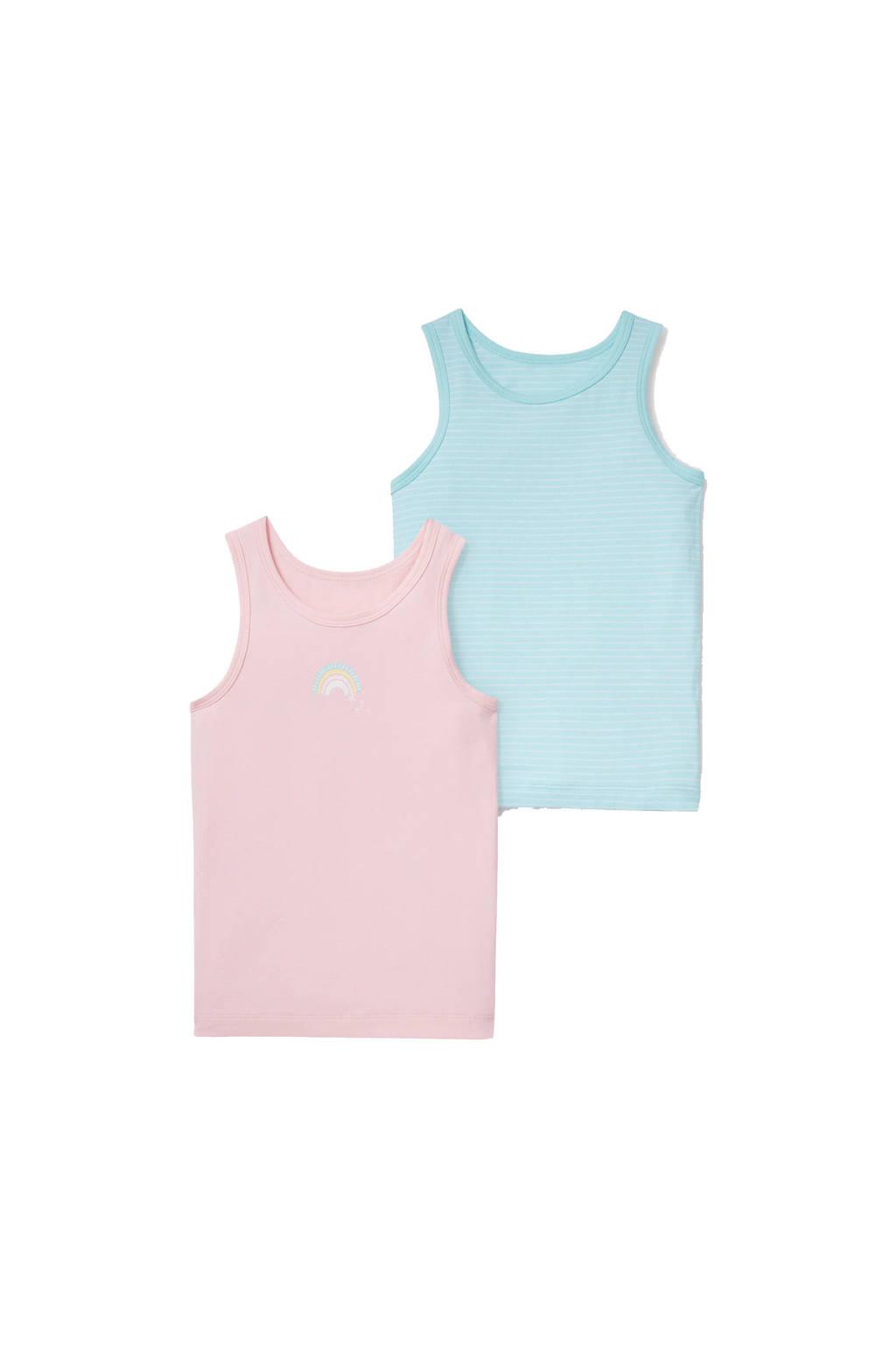 C&A Palomino hemd - set van 2 roze/turquoise, Roze/turquoise