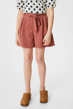 high waist loose fit short roodbruin