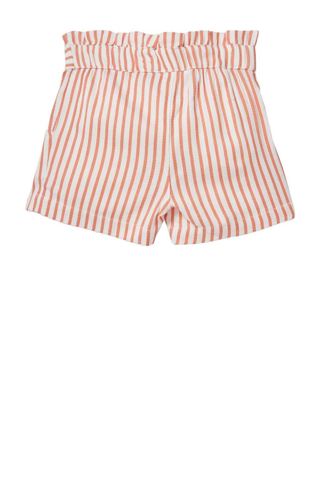 C&A Happy girls Club gestreepte short oranje/wit, Oranje/wit