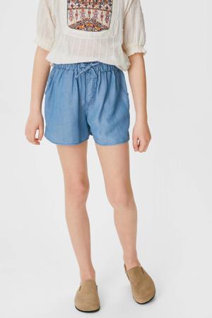 regular fit short blauw
