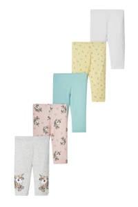 C&A Happy girls Club legging - set van 5 multi color, Multi color