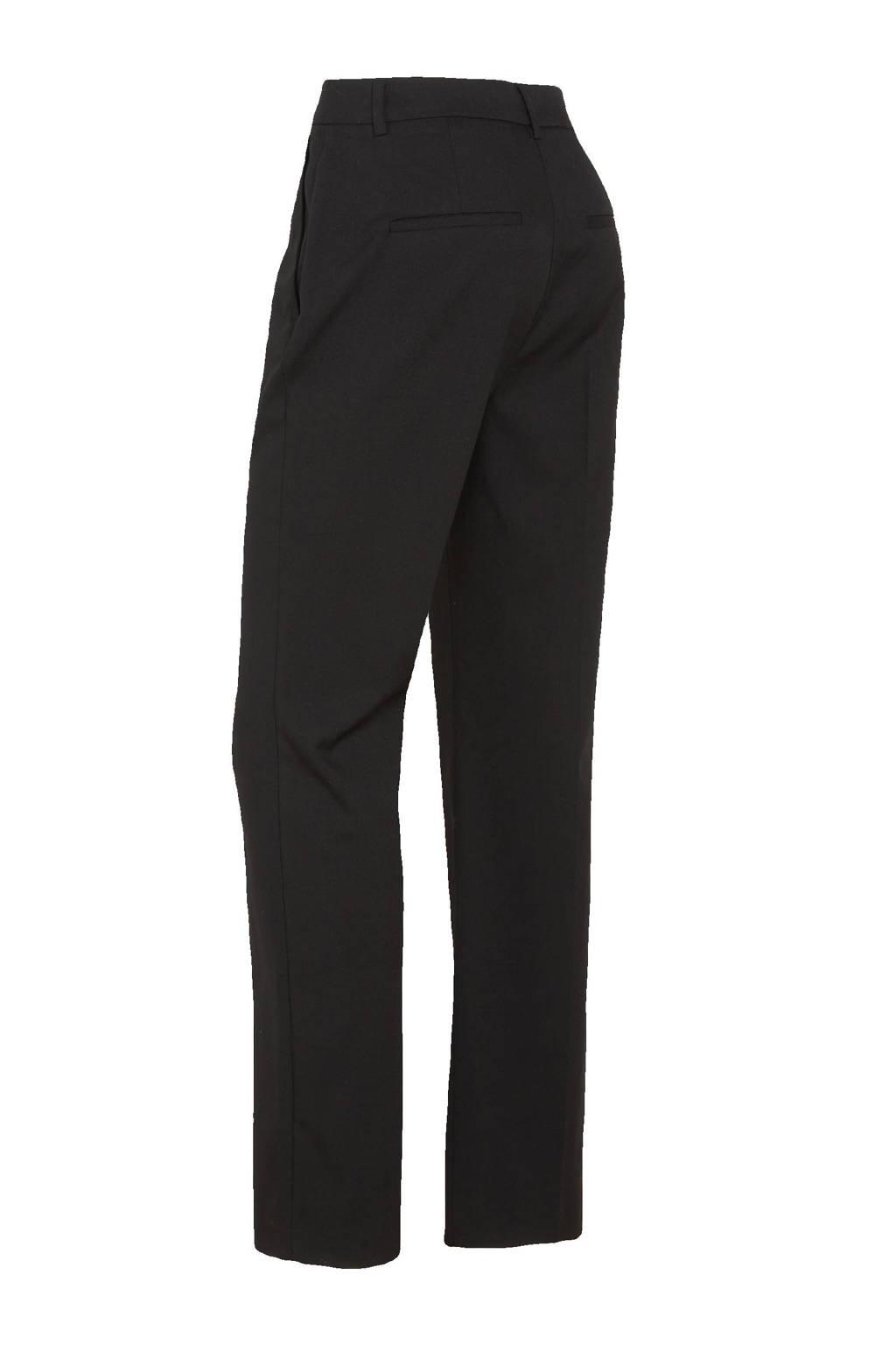 C&A Yessica Tailored high waist straight fit pantalon zwart, Zwart