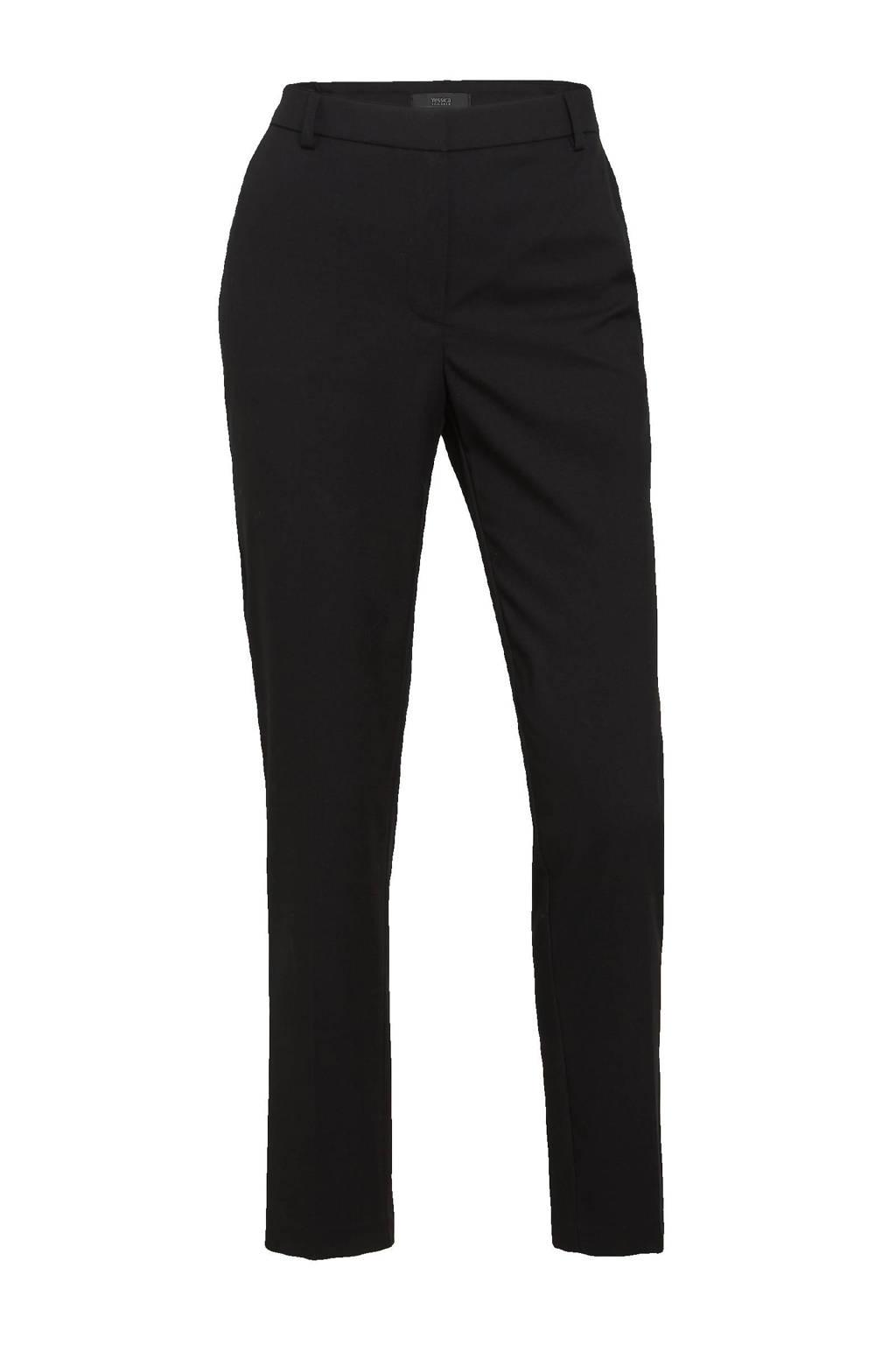 C&A Yessica Tailored slim fit broek zwart, Zwart
