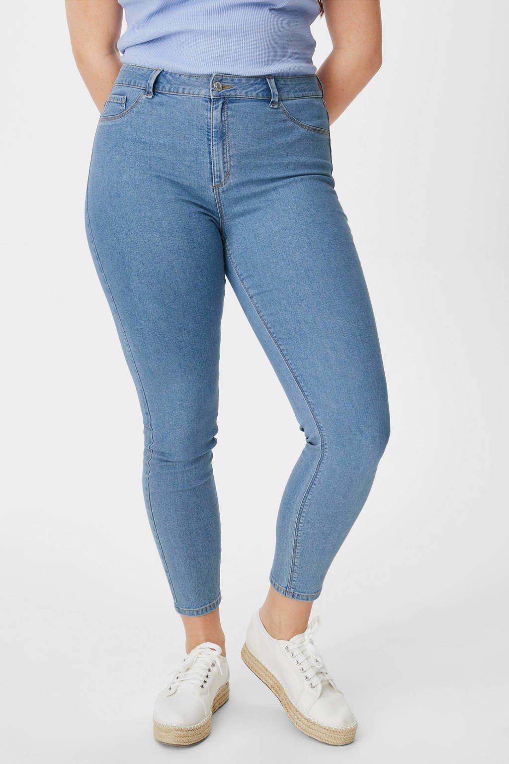 C&A XL Clockhouse high waist super skinny jeans light denim, Light denim