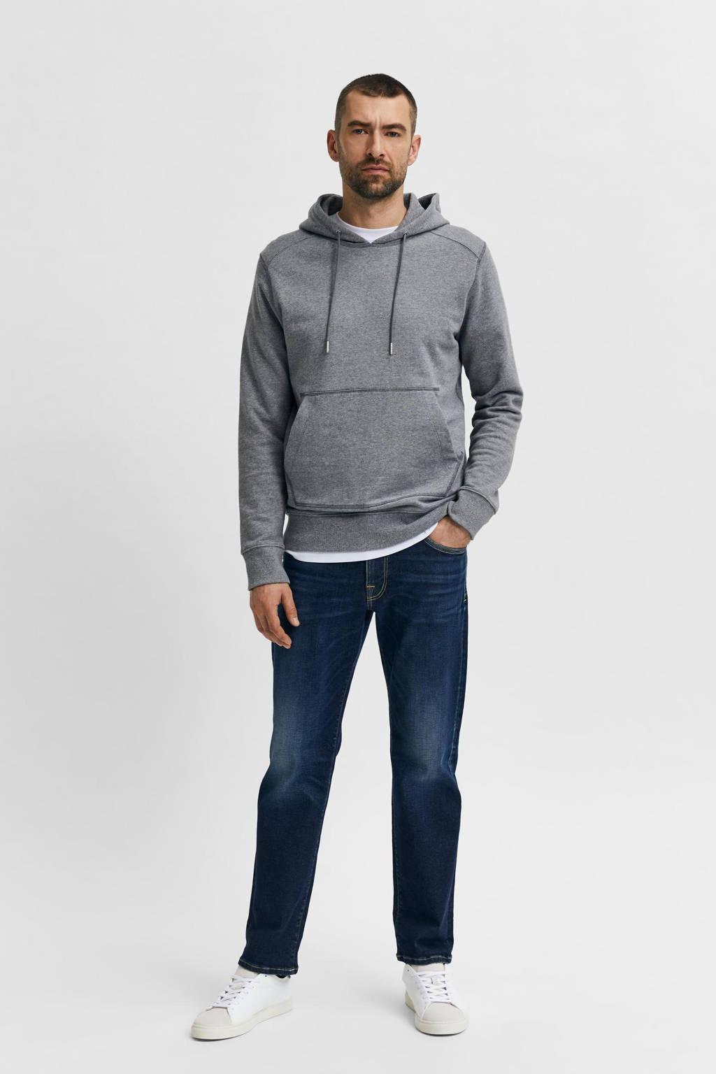 SELECTED HOMME straight fit jeans SLHSCOTT dark blue denim, Dark blue denim