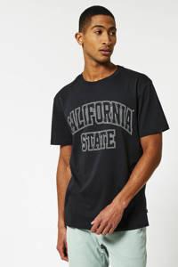 America Today T-shirt Elias State van biologisch katoen zwart, Zwart