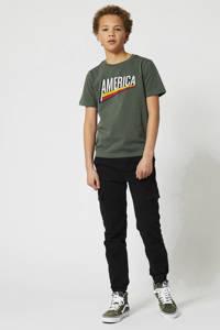 America Today Junior broek Pharrel zwart, Zwart