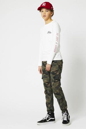 broek Pharrel met camouflageprint army groen