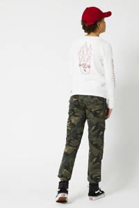 America Today Junior broek Pharrel met camouflageprint army groen, Army groen