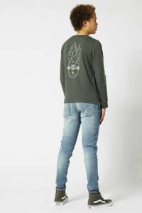 America Today Junior slim fit jeans lichtblauw, Lichtblauw