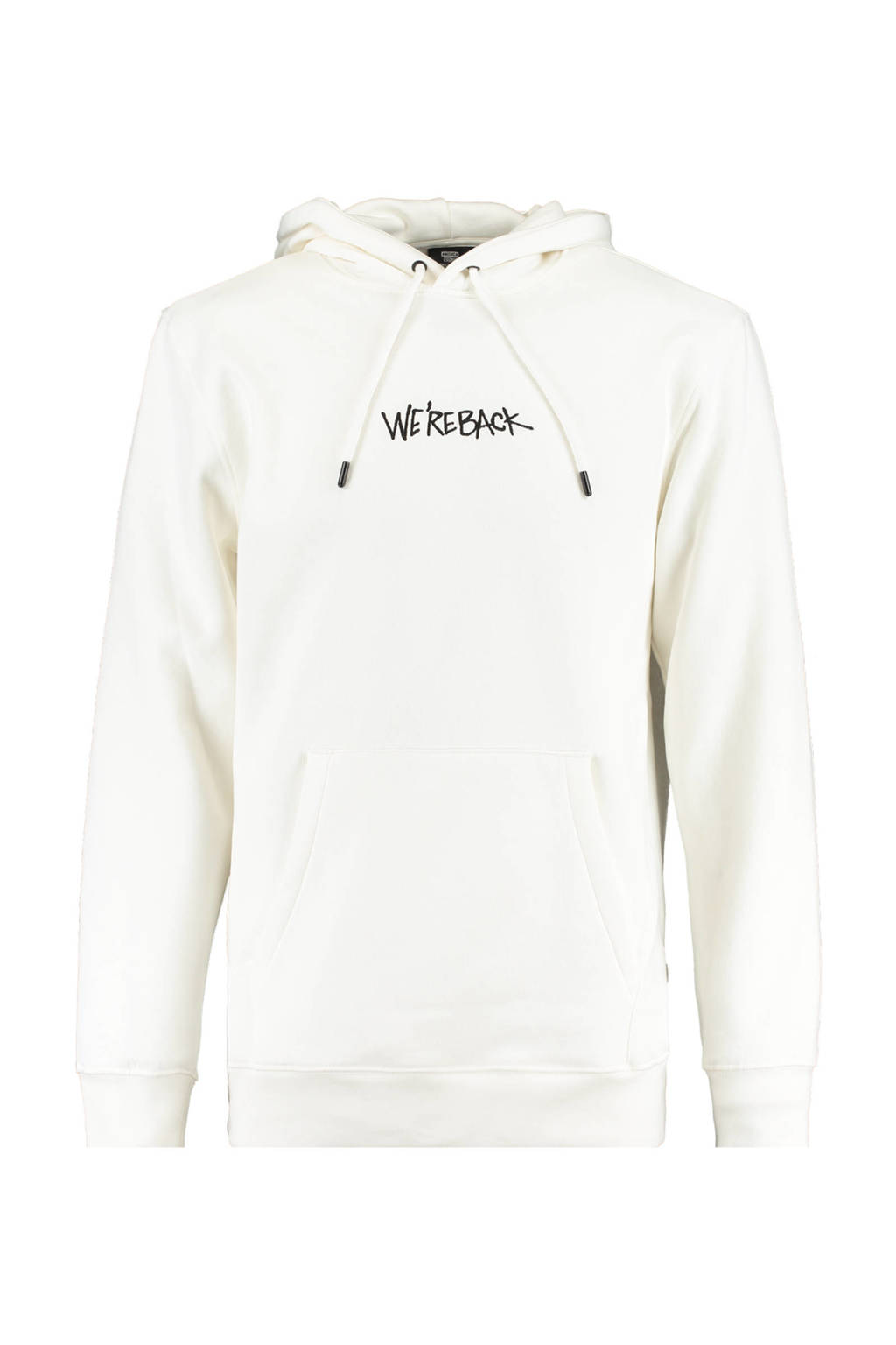 America Today hoodie met tekst ecru, Ecru