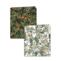 Creative Lab Amsterdam elastische boekenkaft - set van 2 Mighty Jungle/Into the Wild, Multi