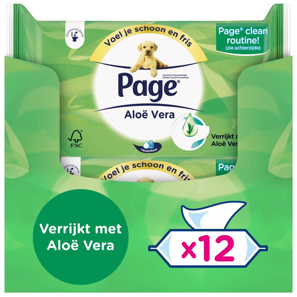 Page vochtig toiletpapier Aloe Vera - 38x12 stuks
