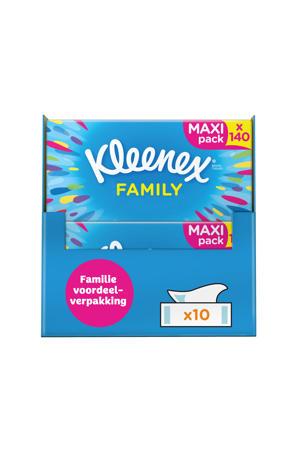 tissues Family Box 1400 zakdoekjes - 10x140 stuks