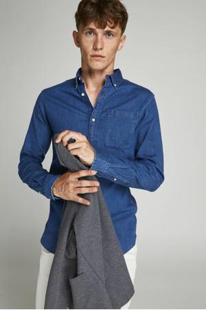 slim fit denim overhemd JPRBLAPERFECT medium blue denim