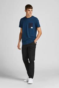 JACK & JONES CORE T-shirt JCORAIDER met all over print donkerblauw, Donkerblauw