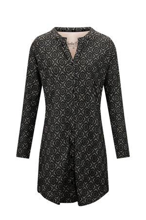 nachthemd met all over print zwart/roze