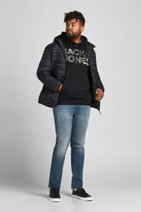 JACK & JONES PLUS SIZE hoodie JJSOLDIER  Plus Size met logo black, Black