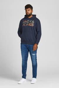JACK & JONES PLUS SIZE hoodie JJSOLDIER  Plus Size met logo donkerblauw, Donkerblauw