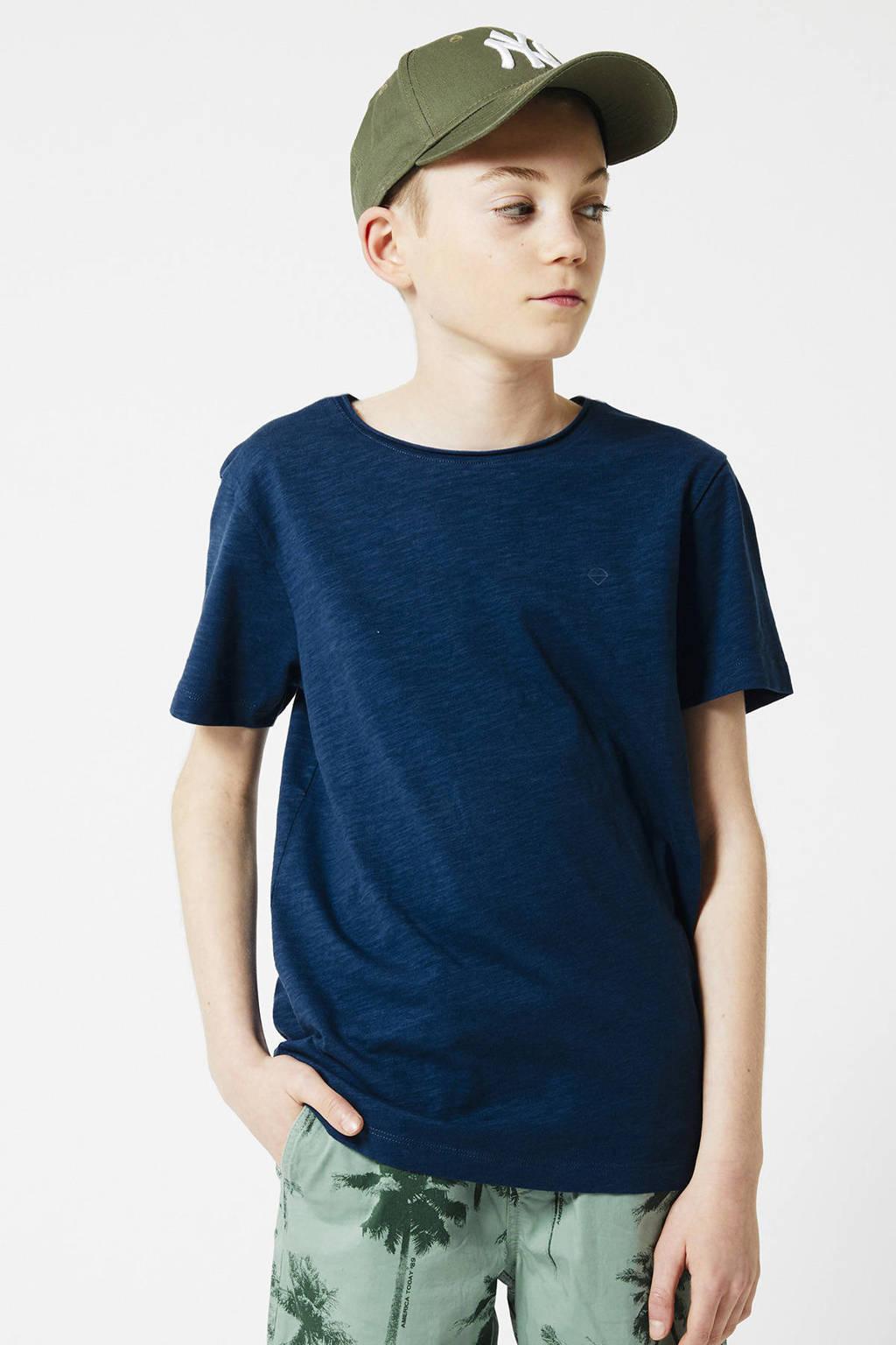 America Today Junior T-shirt Took van biologisch katoen donkerblauw, Donkerblauw