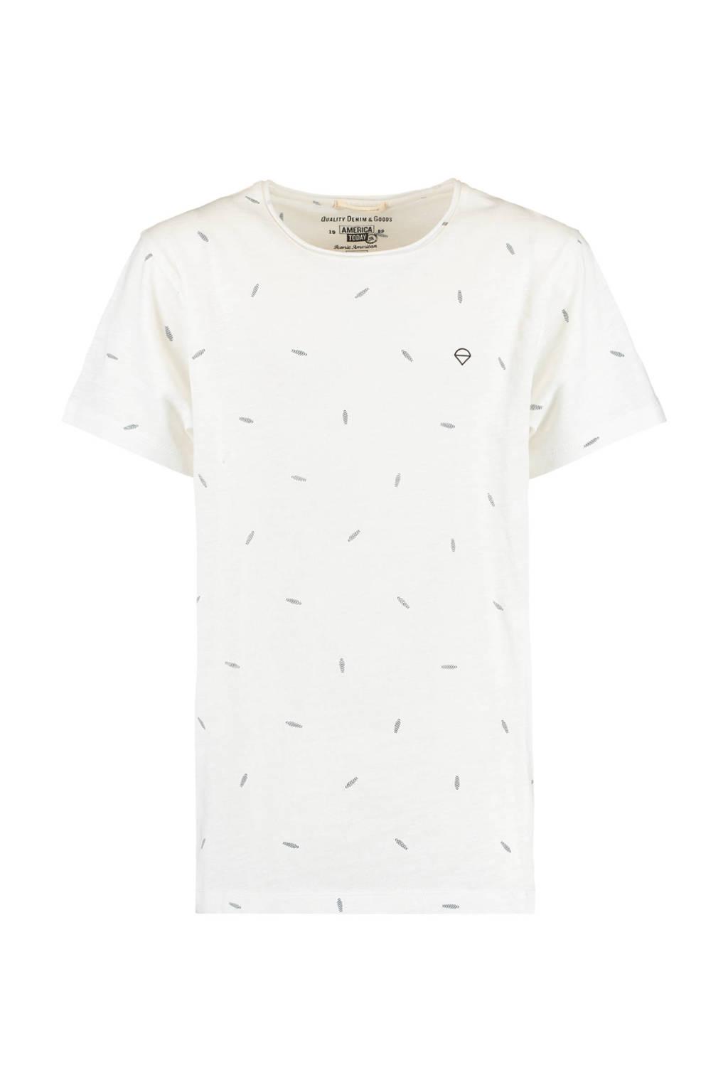 America Today Junior T-shirt van biologisch katoen ecru, Ecru