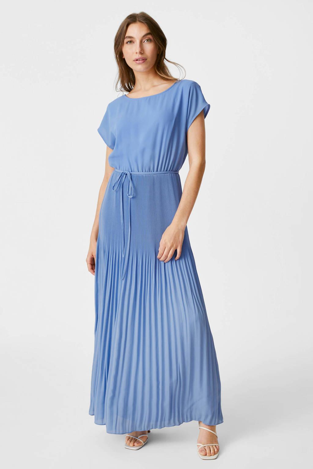 C&A YESSICA PREMIUM maxi A-lijn jurk van gerecycled polyester lichtblauw, Lichtblauw