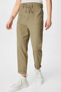 C&A Clockhouse cropped straight fit chino olijfgroen, Olijfgroen