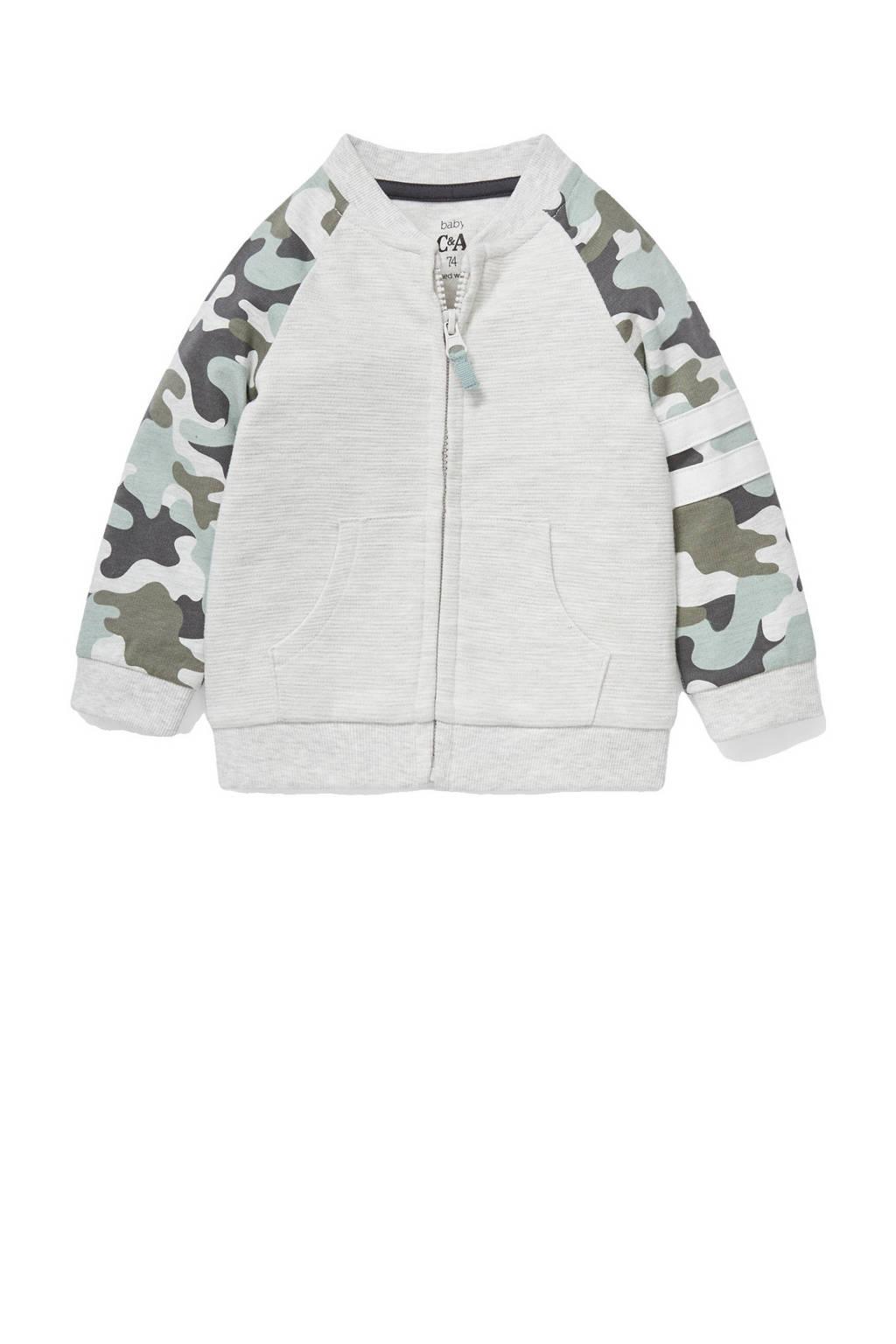 C&A Baby Club vest met camouflageprint ecru/groen, Ecru/groen